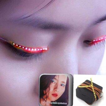 Women 1 Pair Flashes LED False Eyelashes Luminous Waterproof FakeEyelashes - intl