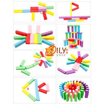Wood Toy ของเล่นไม้ บล็อกไม้ตึกถล่มหรือไม้จังก้า แบบสี (image 2)
