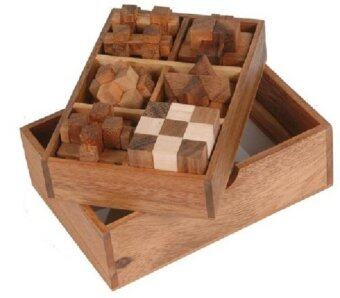 Wood Toy ของเล่นไม้6 Games in a wooden Box