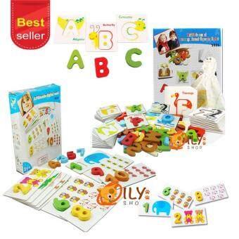 Wood Toy ของเล่นไม้ บัตรจับคู่ภาพ ABC + บัตรจับคู่ภาพตัวเลข