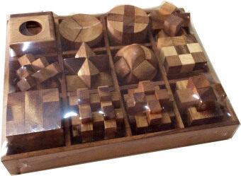 Wood Toy ของเล่นไม้ 12 Games in a wooden Big Set Box