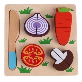 Wooden Radish Vegetables Cut Kids Cooking Kitchen Toy Food Pretend Play Toy - intl