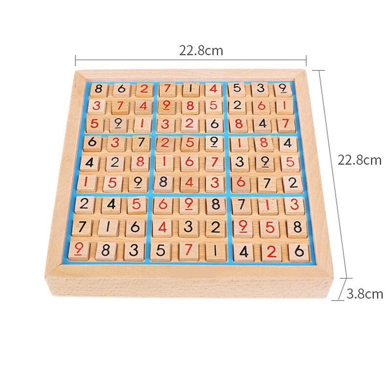 Wooden Sudoku Number Education Puzzle Game - intl