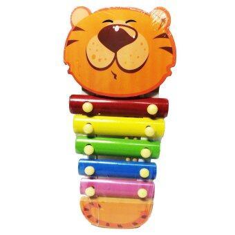 ของเล่นไม้เสริมพัฒนาการ ระนาดดนตรี ของเล่นสำหรับเด็ก (ลายเสือสีส้ม)- Wooden Xylophone Toy (Orange Tiger)