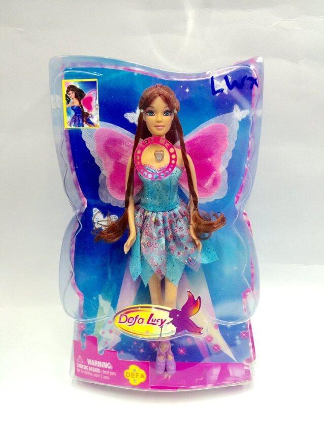 Worktoys ตุ๊กตานางฟ้า มีปีก มีไฟ (ชุดสีฟ้า)