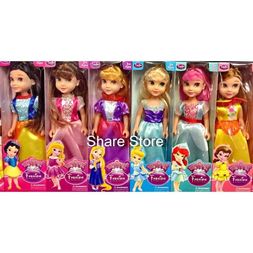 Worktoys ตุ๊กตาชุดรวมเจ้าหญิง 6 ตัว ตุ๊กตาเจ้าหญิง Disney Princess