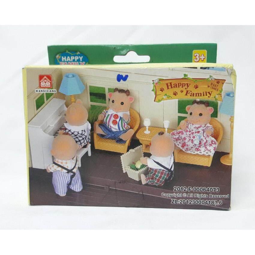 Worktoys ชุดอุปกรณ์เสริม ใช้เล่นกับบ้านหมี บ้านกระต่าย Happy Family