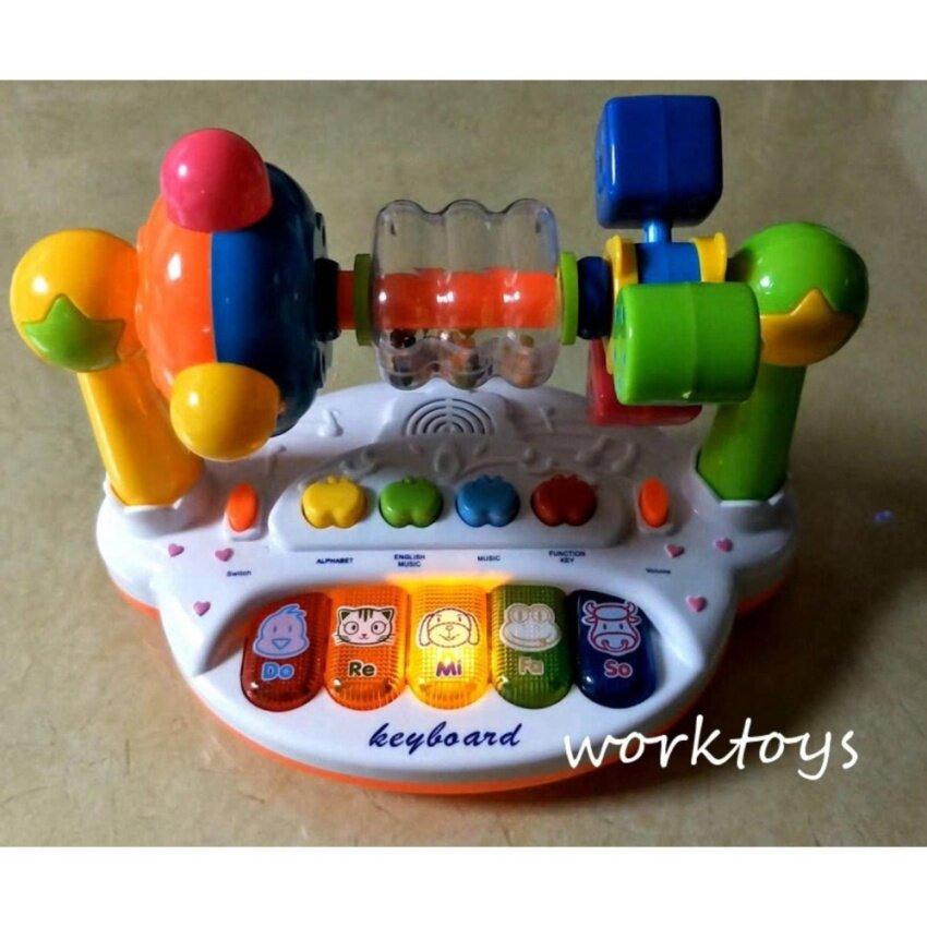 Worktoys ของเล่นเสริมพัฒนาการ ออร์แกน คีย์บอร์ด เปียโนอัจฉริยะ Intelligent Music Piano