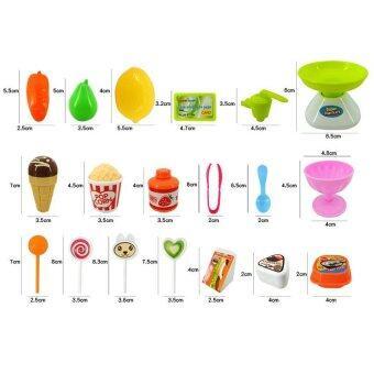 Worktoys ร้านขายไอศครีม Mini Market (สีฟ้า) - 3