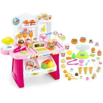 Worktoys ร้านขายไอศครีม Mini Market Icecream set (pink)