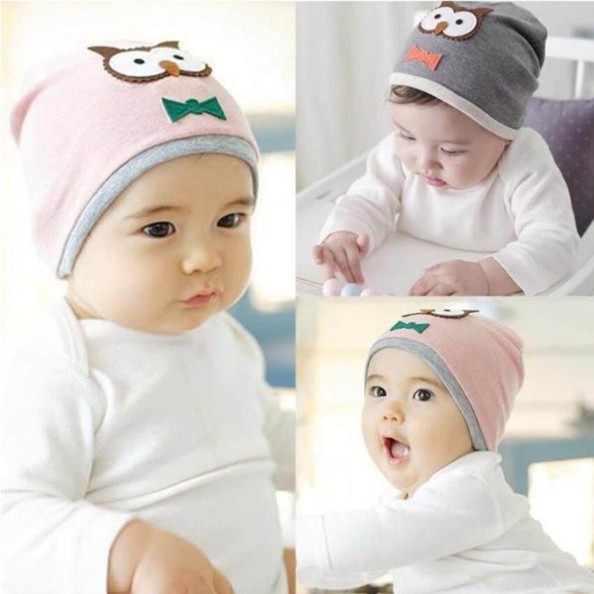 Y and L Support หมวกเด็กทารก ลายนกฮูก สีเทา Baby Hat-P26-GRAY