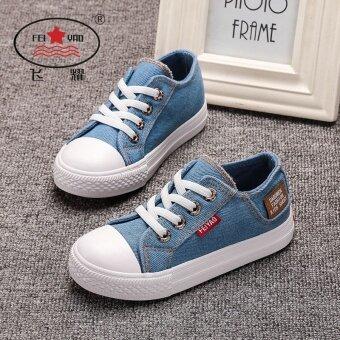Yiu รองเท้าผ้าใบรองเท้าเด็กรองเท้าผ้าสบายๆสำหรับสาวๆ
