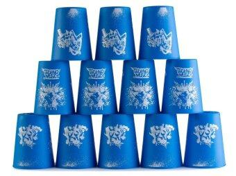 แก้วสแต็ค YJ Set 12Pcs Speed Stacks Cups Indoor Sports StackingRapid Fast For Family Game (Blue)