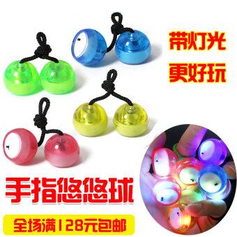 แสงจ้าที่มีสีสันใหม่นิ้วมือเปล่งแสง Yo-Yo ...