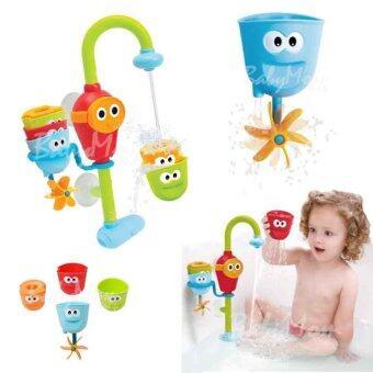 BabyMom Neolife - ก็อกน้ำหรรษา พร้อมหัวก็อกเปลี่ยนทิศทางน้ำ 4 ชิ้น ของเล่นในน้ำ อาบน้ำ เสริมทักษะพัฒนาการ พกพาสะดวก