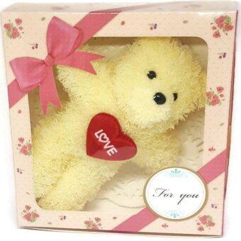 Zaab Fashion ชุดเซ็ทของขวัญ ตุ๊กตาหมีน้อยพวงกุญแจ Love แดงพร้อมกล่องของขวัญน่ารัก Setของขวัญพร้อมส่งมอบให้คนที่คุณรักได้ทันที