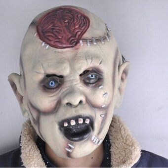 Zombie Mask Melting Face Adult Latex Costume Walking Dead Halloweenscary - intl