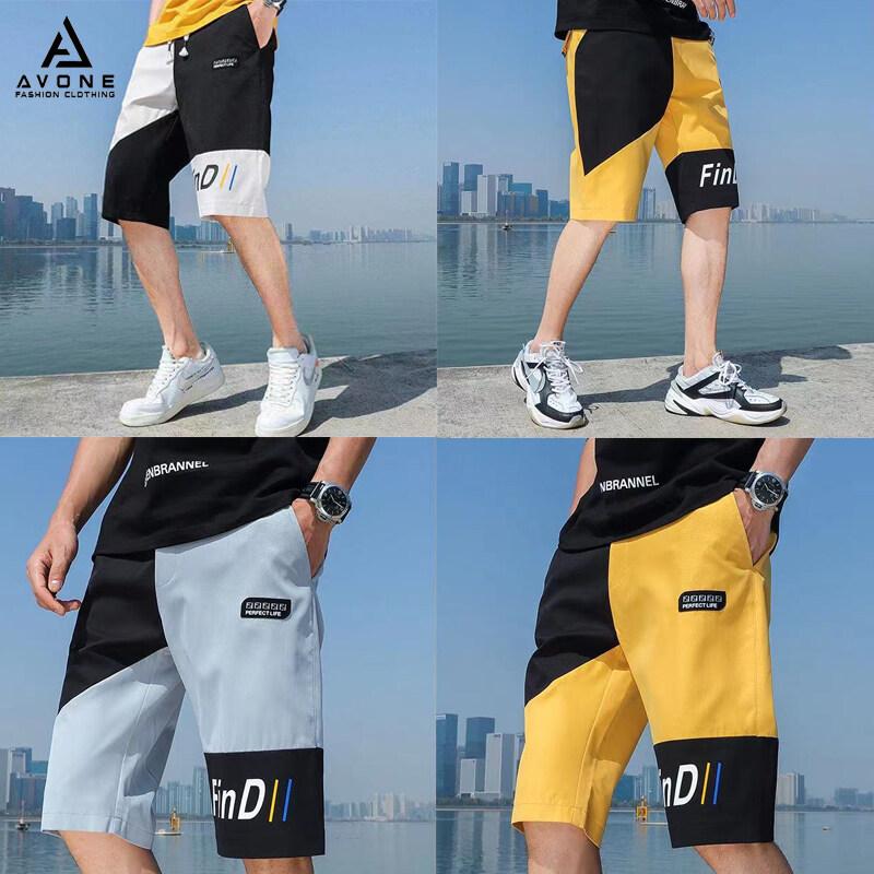 AVONE **พร้อมส่งจากไทย** กางเกงขาสั้น กางเกงขาสั้นผู้ชาย กางเกงขาสั้นกีฬาแฟชั่น เนื้อผ้าดี เย็บอย่างดี M23