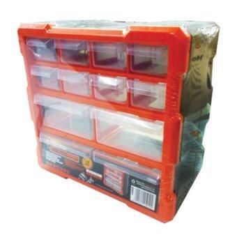 Tactix กล่องเครื่องมือใหญ่และลิ้นชัก 12 ช่อง รุ่น 320630