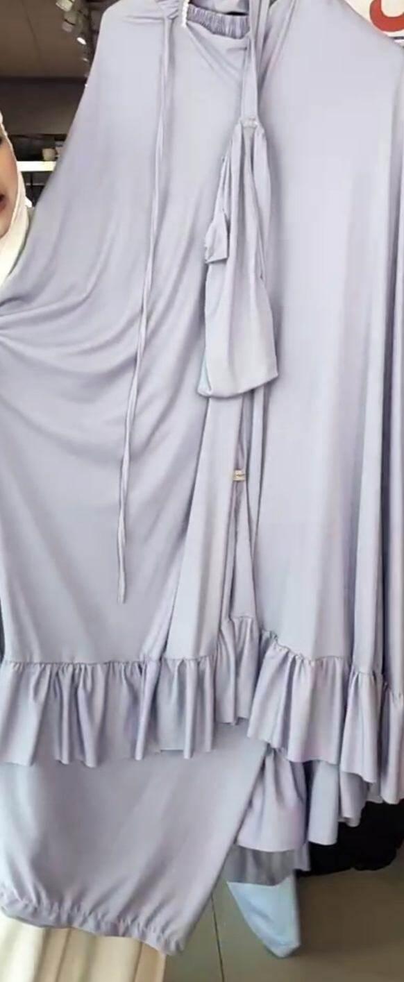 TA20 ตะลากงใส่ละหมาดสำหรับผู้ใหญ่ (ชุดละหมาด) ผ้าละหมาด ตะละกงแบบมีหน้า ตะละกงผ้ายืด เนื้อนิ่ม ระบาย ชุดละหมาด มุสลิม ชุดละหมาดมุสลิ