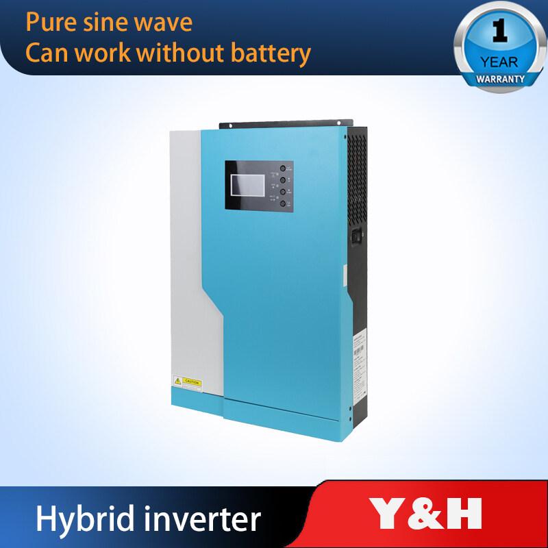 Y & H 3 5KW/5.5KW Hybrid Soalr อินเวอร์เตอร์ MPPT 100A 500VDC ป้อนข้อมูล PV 220VAC 24VDC/48VDC Pure Sine Wave อินเวอร์เตอร์ไฮบริดพร้อม WiFI อินเวอร์เตอร์พลังงานแสงอาทิตย์