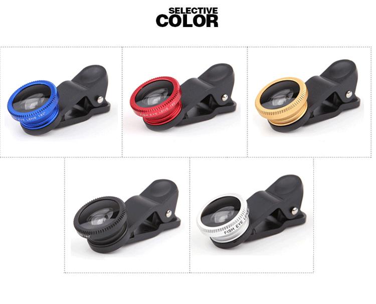 เลนส์เสริมมือถือ Universal Clip Lens 3in1 ให้ภาพมุมกว้าง ถ่ายมาโครได้ง่าย Free ถุงผ้าเก็บเลนส์กล้องโทรศัพท์มือถือ พร้อมส่ง