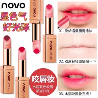 ☆03☆ ลิปสติคแท่งทอง Novo Double Color Hydra lip ตัวใหม่ 2017ฝาครอบลิปแบบแม่เหล็ก