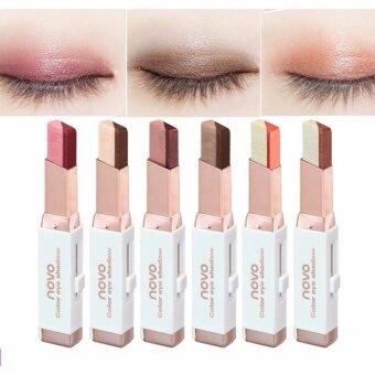 ประกาศขาย สี #04 Novo Eye Shadow Double Color gradient velvet 2color in1 โนโว อายแชโดว์ ทูโทน 2 สีในแท่งเดียว ฮิตที่สุดในตอนนี้ ติดทน กันน้ำ กันเหงื่อ ไม่เลอะ ไม่จางระหว่างวัน Novo 2Tone eyeshadow แท้ 100%