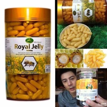 ของแท้ 100% นมผึ้ง Nature's King Royal Jelly 1000 mg. (แบ่งขาย 30 capsules)