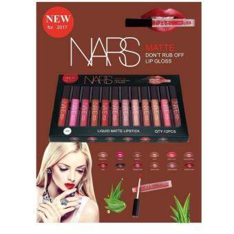 Harga ลิปเซต 12 สี Nars Matte don't rub off lip gloss