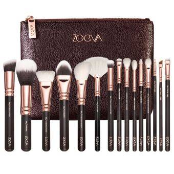 Harga 15PCS Cosmetic Brushes Foundation Brush Eye shadow brushes, DeluxePackage Send cosmetic bag Black