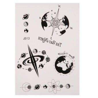 1pc J153 Waterproof Animal Body Art Fake Tattoo Temporary TattooSticker (Black) - intl