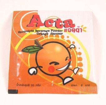 เครื่องดื่มเกลือแร่ ตราแอคต้า รสส้ม 20กรัม (1กล่อง*50ซอง)
