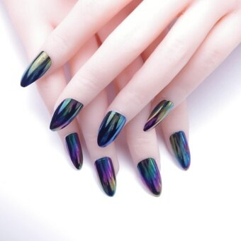 24pcs/set 30 Styles Choose Fake Nails with Design Artificial FrenchMultiple Colors Nails Tips Press on Nails with Glue Sticker - intl
