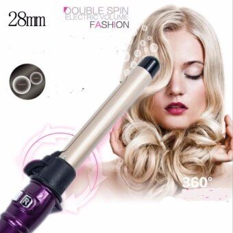 28mm Professional Rotary Electric Hair Curler Hairdressing StylingHair Curling Iron Roller Wand Tool Automatic Hair Salon Wave InStyler Ionic Pro Ceramic Hot Iron Hair Styler - intl