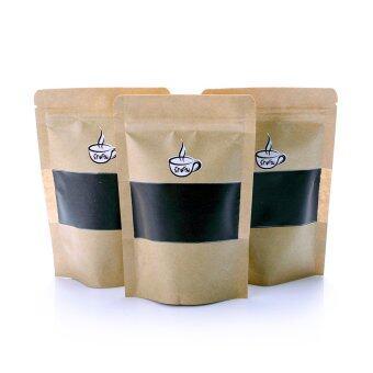 เสนอราคา กากกาแฟขัดผิวขาว กากกาแฟขัดผิวนุ่ม สครับกาแฟ เซท 3 ถุง