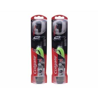คอลเกต แปรงสีฟัน ไฟฟ้า 360 ชาร์โคล แพ็ค 1 (คละสี) X2 Set