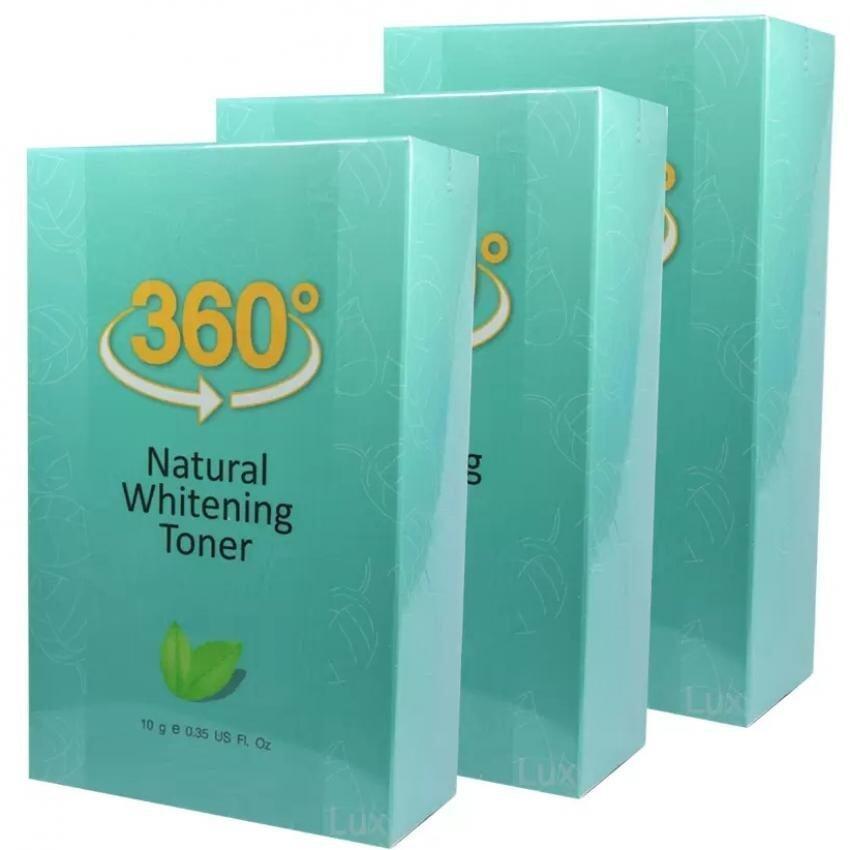 360 Natural Whitening Toner Serum ระเบิดฝ้ากระจุย (10 g.) 3 ขวด(360 Natural Whitening Toner_3)