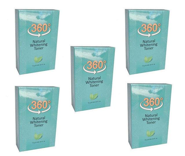 360 Natural Whitening Toner Serum ระเบิดฝ้ากระจุย (10 g.) 5 ขวด