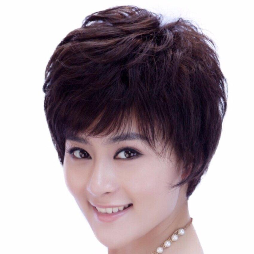 วิกผมสั้น (รหัส2056 #4)  cala wigs เส้นไหมทนความร้อนสูงจากเกาหลีอย่างดี100% image
