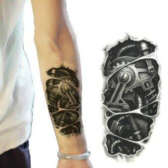 โปรโมชั่นพิเศษ 3D Machine Pattern Arm Waterproof Temporary Transfer TattooSticker(OVERSEAS) - intl