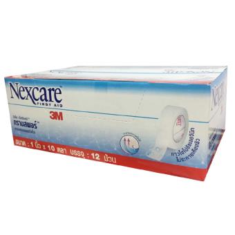 3M NEXCARE Transpore 3เอ็ม เน็กซ์แคร์ ทรานสพอร์ เทปแต่งแผลชนิดพลาสติกใส ขนาด 1นิ้วx10หลา 1กล่อง บรรจุ12ม้วน