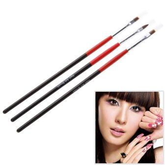 3x Soft and Professional Pen Nail Art Brushes Tool Set