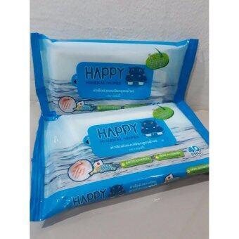 ทิชชูเปียกสูตรน้ำแร่ (40แผ่นx2pack)
