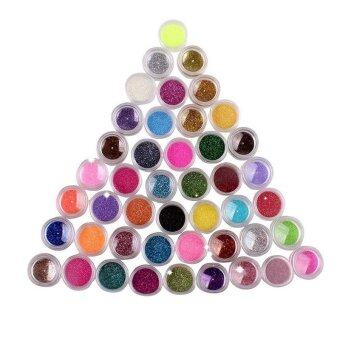 45 Colors Nail Art Make Up Body Glitter Shimmer Dust PowderDecoration