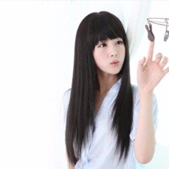 วิกผมยาวสีดำ (รหัส6273+3-#2) cala wigs เส้นไหมทนความร้อนสูงจากเกาหลีอย่างดี100%