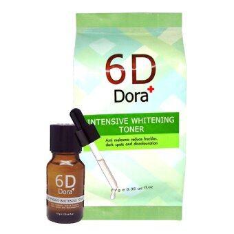 6D Dora+ เซรั่มสลายฝ้า โทนเนอร์สลายฝ้า กระ INTENSIVE WHITENINGTONER (10 g)