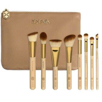 8pcs makeup brush set, with leather bag Eye shadow, blush brush,Foundation Brush