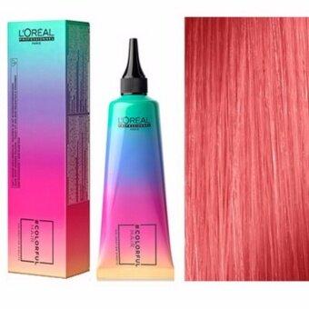 ครีมเคลือบย้อมสีผม ลอรัอัล โปรเฟสชันนอล คัลเลอร์ฟูล แฮร์-สีพีช ซันเซ็ท คอรัล 90 มล. L'OREAL Professional Colorful Hair-Sunset Coral 90 ml.