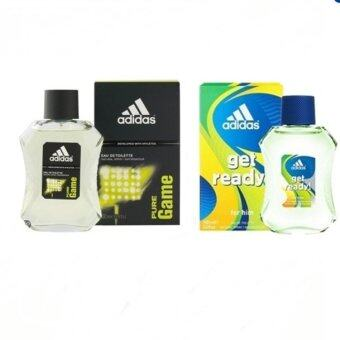 Adidas Pure Game For men 100 ml.+ Adidas Get Ready for Men EDT 100ml.